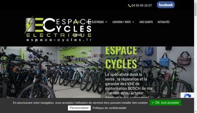 Site internet de Espace Cycles Electrique