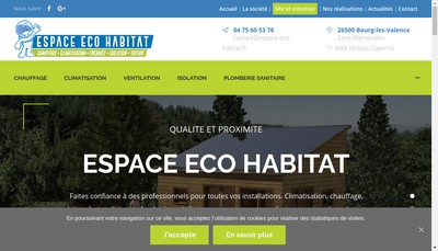 Site internet de Espace Eco Habitat