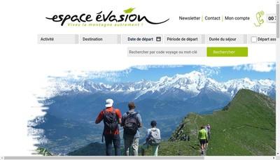 Site internet de Espace Evasion