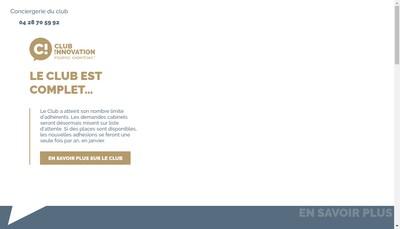 Site internet de Espace Innovation