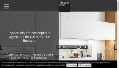 Site internet de Espace Inside
