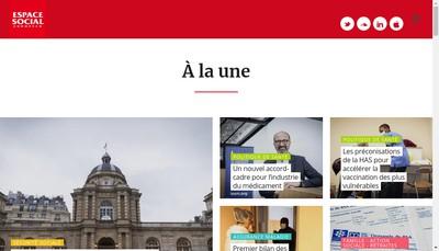 Site internet de Espace Social Europeen