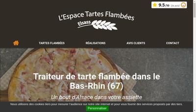 Site internet de L'Espace Tartes Flambees