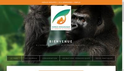 Site internet de Espace Zoologique de Saint-Martin la Plaine