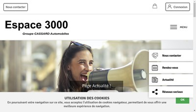 Site internet de Espace 3000