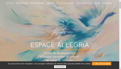 Site internet de Espace Allegria
