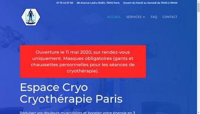 Site internet de Espace Cryo
