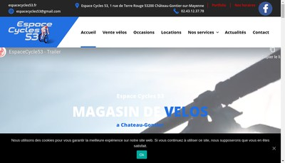 Site internet de Espace Cycles 53