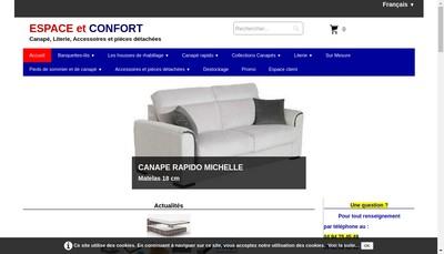 Site internet de Espace et Confort