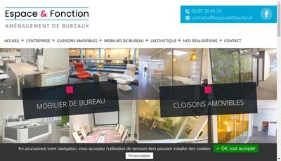 Site internet de Espace et Fonction