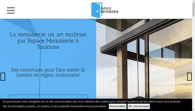 Site internet de Societe Espace Menuiserie
