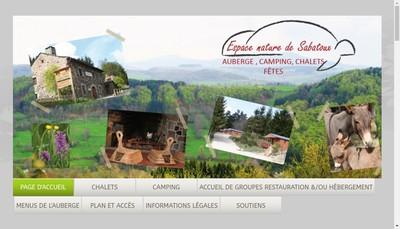 Site internet de Espace Nature de Sabatoux