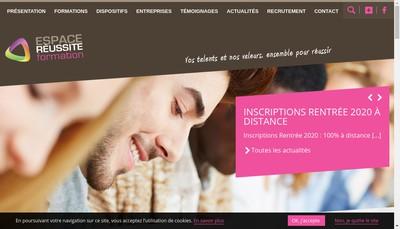 Site internet de Espace Reussite