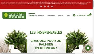 Site internet de Les Pepinieres du Languedoc