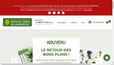 Site internet de Les Espaces Verts du Languedoc