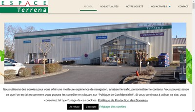 Site internet de Espace Terrena