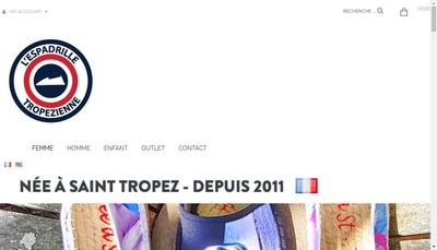 Site internet de L'Espadrille Tropezienne