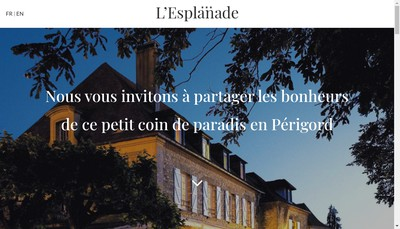 Site internet de Hotel l'Esplanade
