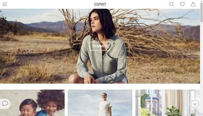 Site internet de Esprit