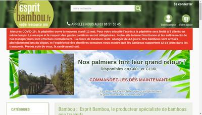 Site internet de Esprit Bambou