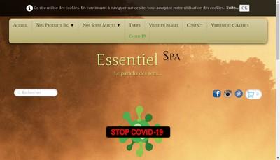 Site internet de Essentiel Spa