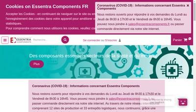 Site internet de Essentra Components