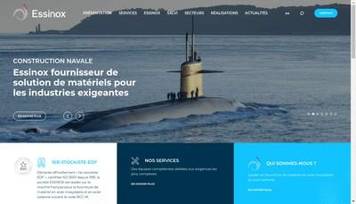 Site internet de Essinox Industrie