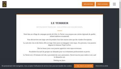 Site internet de Le Terrier