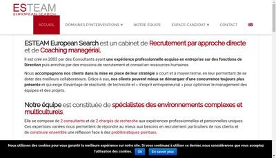 Site internet de Esteam-European Search
