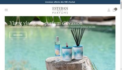 Site internet de Esteban Boutique
