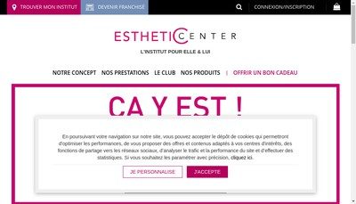 Site internet de Esthetic Center