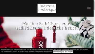 Site internet de Martine Esthetique a Domicile