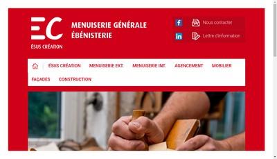 Site internet de Esus Creation