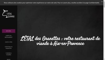 Site internet de L'Etal des Granettes