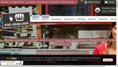 Site internet de Etiq Etal