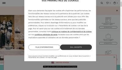 Site internet de Etam Lingerie