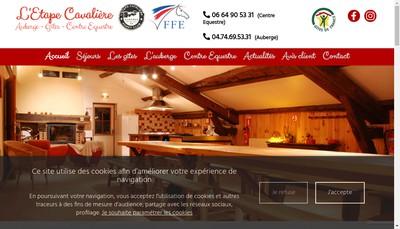 Site internet de L'Etape Cavaliere