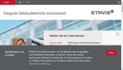 Site internet de Etavis