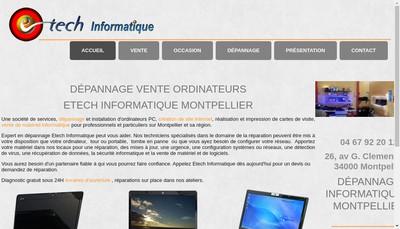 Site internet de Etech Informatique