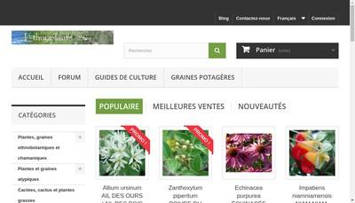 Site internet de Ethnoplants