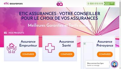 Site internet de Etic Assurances