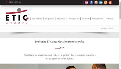Site internet de Etic Groupe et-Ou Groupe Etic