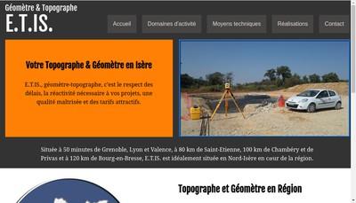 Site internet de Entreprise de Topographie Iseroise