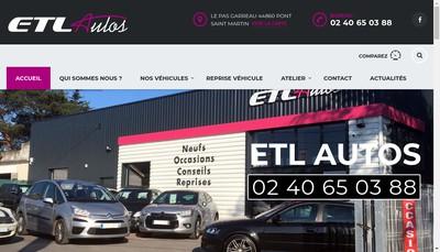 Site internet de ETL Autos