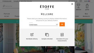 Site internet de Etoffe Com