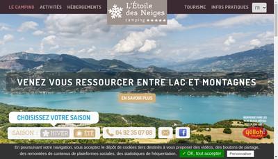 Site internet de L'Etoile des Neiges