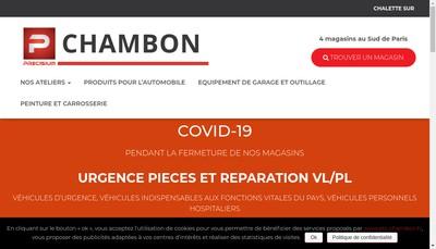 Site internet de Chambon SAS