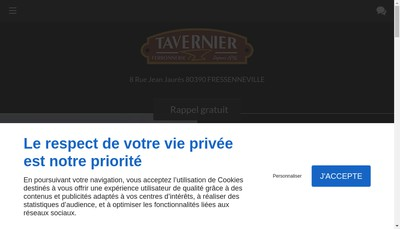 Site internet de Etablissements Michel Tavernier