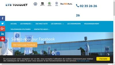 Site internet de Etablissements Touquet
