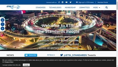 Site internet de Etsi